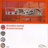 Belg. 2010 - TRV-BL19A - Bruxelles-Central (NUMEROTE) ** - Railway