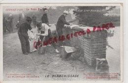 MILITARIA GUERRE 1914-1918 - AUX GRANDES MANOEUVRES - LE BLANCHISSAGE - AU PLANTEUR DE CAIFFA-CHOCOLAT HENRI JACQUIN - War 1914-18