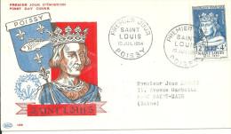 Poissy 10 07 1954 Saint Louis - FDC