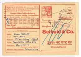 T7. Carte Commerciale Seibold. Sonnenschein Biennenhonig =Miel. + Abeille. Düsseldorf 3.11.58. - Api