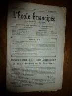 1931 le 27 sept :L�ECOLE EMANCIPEE (l� E E) Revue P�dagogique orient�e vers la bolch�visation du syst�me �ducatif