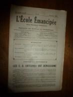1930 le 12 janvier :L�ECOLE EMANCIPEE (l� E E) Revue P�dagogique orient�e vers la bolch�visation du syst�me �ducatif