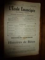 1930 le 19 janvier :L�ECOLE EMANCIPEE (l� E E) Revue P�dagogique orient�e vers la bolch�visation du syst�me �ducatif