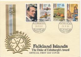 FALKLAND ISLANDS  - 28.9.1981 , Jugenförderung , Prinz Philip - Falkland Islands