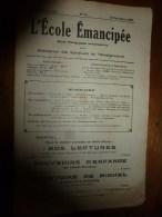 1929 le 29 d�c. :L�ECOLE EMANCIPEE (l� E E) Revue P�dagogique orient�e vers la bolch�visation du syst�me �ducatif