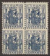 España 0801 ** B4. Escudo De España. Falso - 1931-50 Nuevos & Fijasellos