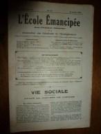 1931 le 26 juillet. :L�ECOLE EMANCIPEE (l� E E) Revue P�dagogique orient�e vers la bolch�visation du syst�me �ducatif