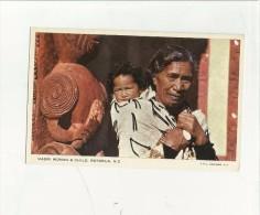 90246 Maori Womand & Child Rotorua New Zeland - Nuova Zelanda