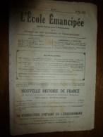 1931 le 10 mai. :L�ECOLE EMANCIPEE (l� E E) Revue P�dagogique orient�e vers la bolch�visation du syst�me �ducatif
