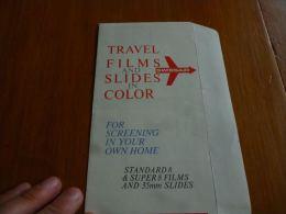CB6 LC114 Swissair Travel Films And Slides In Colors - Publicité - Publicités