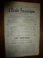 1931 le 28 juin. :L�ECOLE EMANCIPEE (l� E E) Revue P�dagogique orient�e vers la bolch�visation du syst�me �ducatif