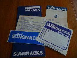 CB6 LC114 Documents Pub Sunsnacks No Sabena - Advertenties