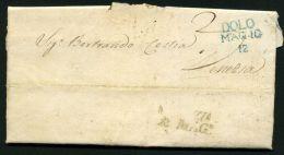 ITALIE  :  TRES  BELLE  LETTRE   POUR   VENISE  DU  11 MAI  1838 ,  A  VOIR  . - Affrancature Meccaniche Rosse (EMA)