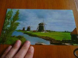 CB6 LC114 KLM Royal Dutch Airlines - Carte Touristique Holland Moulins Molen - Stationery