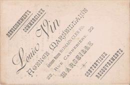 MARSEILLE (13) CARTE DE VISITE ANCIENNE DE LOUIS VIN (RENSEIGNEMENTS COMMERCIAUX) 22 RUE CANNEBIERE - Calendars
