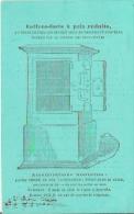 PARIS 19 RUE DES GRANDS AUGUSTINS CARTE DE VISITE ANCIENNE DU JOURNAL DES PERCEPTEURS (PUB COFFRES FORTS A PRIX REDUITS) - Visiting Cards
