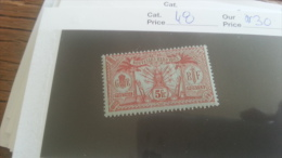 LOT 259347 TIMBRE DE COLONIE NOUVELLE HEBRIDES NEUF**  N�48 VALEUR 30 EUROS DEPART A 1€