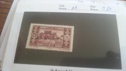 LOT 259358 TIMBRE DE COLONIE ALEXANDRETTE  NEUF*  N�11 VALEUR 17 EUROS DEPART A 1€