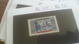 LOT 259360 TIMBRE DE COLONIE GRAND LIBAN  NEUF*  N�115 VALEUR 16 EUROS DEPART A 1€