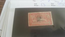 LOT 259363 TIMBRE DE COLONIE ZANZIBAR NEUF(*) N�53 VALEUR 35 EUROS DEPART A 1€