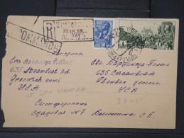 RUSSIE-Enveloppe En Recommandée Pour Les Etats Unis En 1948 Aff Plaisant  Pas Commun Lot P5176