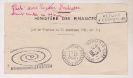 TICKET D ENVOI DU MINISTERE DES FINANCES - Documents Historiques