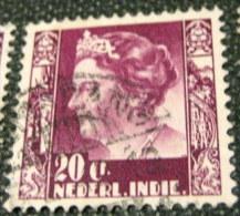 Netherland Indies 1934 Queen Wilhelmina 20c - Used - Niederländisch-Indien