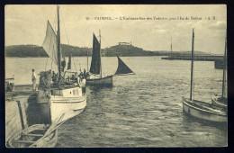 Cpa Du 22 Paimpol L' Embarcadère Des Vedettes Pour L' Ile De Bréhat    MAI15 1 - Paimpol