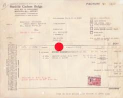 Bruxelles Rue De Birmingham à Molenbeek Saint Jean Société CADUM BELGE  SAVON - Factures & Documents Commerciaux