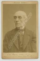 (Autographes) Photo De L'auteur Dramatique Ernest Legouvé, Dédicacée à L'avocat Brosset. Circa 1880. Académie Française. - Autografi
