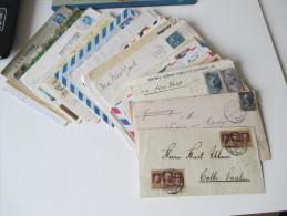 Belege Posten Altdeutschland- Europa 50 Stk. 1863- 1990er Jahre. USA, Zensur, Erstflug, Ansichtskarten, Frankreich Usw.. - Briefmarken