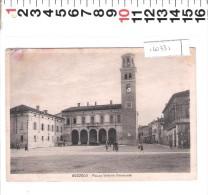 A 4073 MANTOVA BOZZOLO PIAZZA VITTORIO EMANUELE AUTO D EPOCA ANIMATA SCOLARA CON CARTELLA - Mantova