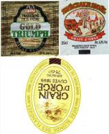 Etiquette (label) De Biere Française  ( Beer, Cerveza, Birra, Bier);Brasserie GRAIN D´ORGE 59 - Bière