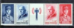 France 1943 - Bande Francisque N° 568 à 571 ** Luxe Cote 18 - France