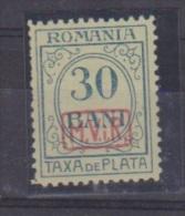Roumanie //  Occupation All. //  Taxe  // N 4 // 30 Bani Bleu //  NEUF Avec Trace De Charnière - Foreign Occupations