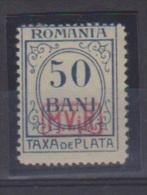 Roumanie //  Occupation All. //  Taxe  // N 5 // 50 Bani Bleu //  NEUF Avec Trace De Charnière - Foreign Occupations