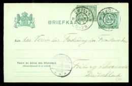 MENGFRANKERING * HANDGESCHREVEN BRIEFKAART Uit 1906 Van ZWOLLE Naar FRIBURG DUITSLAND * VOORDRUK * (9800h) - Postal Stationery