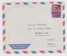 CONGO BELGE LEOPOLVILLE 19?? BY AIR MAIL POUR NOISY LE SEC FRANCE - 2 scans -