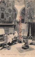ALGERIE -   Dans Le Sud - Fabricants De Tapis - Tissage De Tapis  -  4 Scans - Scènes & Types