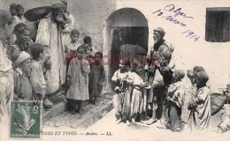 ALGERIE -   ARABES - Groupe D'enfants 1914 -  2 Scans - Scènes & Types