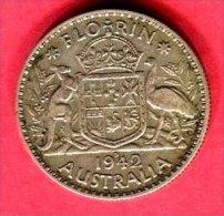 1  FLORIN   1942  ( KM 40 ) TB 7 - Vordezimale Münzen (1910-1965)