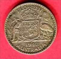 1  FLORIN   1942  ( KM 40 ) TB 7 - Moneda Pre-decimale (1910-1965)