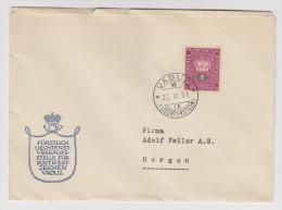 LIECHTENSTEIN VADUZ 22 JUIN 1951 POUR HORGEN - Liechtenstein