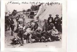 Grande Photo 14-18 CHEPPY (près Clermont-en-Argonne) - Soldats Américains à Un Poste De Secours, A.E.F (A104, Ww1, Wk 1) - Frankreich