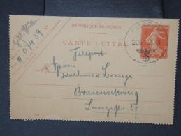 """FRANCE-rare Olitération Allemande """" Feldpost"""" Sur Entier Postal Francais Le 12:6:40 Pour L Allemagne  à Voir  P5210 - Marcophilie (Lettres)"""