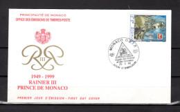 """Enveloppe 1er Jour De 1999 """" BOURSE DU JUBILE / RAINIER III """" N° YT 2220. Parfait état. FDC - FDC"""