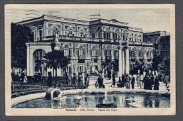 1942 CATANIA VILLA BELLINI VASCA DEI CIGNI FP V SEE 2 SCANS ANIMATA - Catania