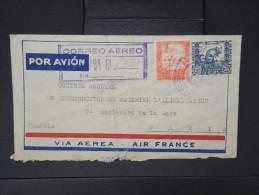 BOLIVIE-Enveloppe En Recommandée De La Paz Pour Paris   Par Avion( Air France)  En 1939   à Voir  P5215 - Bolivie