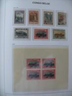 "Congo Belge 1937-38 ** MNH cob 196A/202 + BL1  "" Parcs Nationaux "" cat: 12,50 Euro"