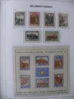 "Congo Belge 1938 ** MNH cob 197/202 + BL2  "" Parcs Nationaux "" cat: 135,00 Euro"